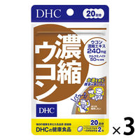 DHC(ディーエイチシー) 濃縮ウコン 20日分(40粒)×3袋セット ウコンサプリメント