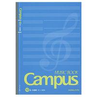 コクヨ キャンパス 音楽帳 セミB5 両面印刷 30枚 5線譜 12段 オン-38N 1セット(20冊)(直送品)