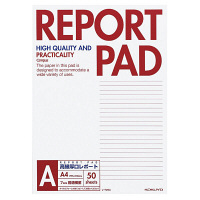 コクヨ キャンパス レポートパッド 表紙巻きタイプ A4 A罫7mm 50枚 レ-725A 1セット(1000枚:50枚×20冊)(直送品)