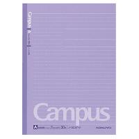 コクヨ キャンパスノート ドット入り罫線 セミB5 30枚 A罫7mm 30行 カラー表紙(紫) ノ-3CAT-V 1セット(30冊)(直送品)
