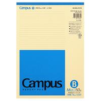 コクヨ キャンパス 再生紙レポートパッド A4 B罫6mm 50枚 レ-E110B 1セット(1000枚:50枚×20冊)(直送品)