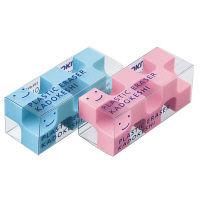 コクヨ 消しゴム<カドケシプチ> 2個入(ピンク・ブルー) ケシーU750ー3 1セット(40個:2個入×20パック) (直送品)