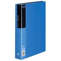 コクヨ クリヤーブック<ベーシック> 固定式 A4縦 80ポケット 青 ラ-B80B 1セット(2冊)(直送品)
