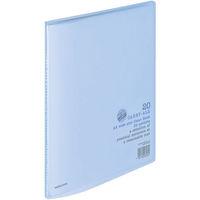 コクヨ クリヤーブック<キャリーオール> 固定式 A4ワイド 20ポケット 青 ラ-3B 1セット(10冊)(直送品)