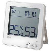 エレコム 温湿度警告計/熱中・ウィルス対応/大画面/ホワイト OND-02WH 1個 (直送品)