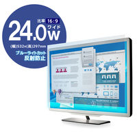エレコム 液晶保護フィルム/ブルーライトカット/24インチワイド EF-FL24WBL 1個 (直送品)