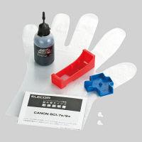 エレコム 詰替えインク/キヤノン/BCI-7対応/ブラック(4回分) THC-7BK4N 1個