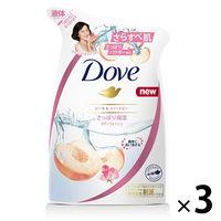 ダヴ(Dove) ボディウォッシュ(ボディソープ) ハーモニー ピーチ&スイートピー 詰め替え 360g 1セット(3個) ユニリーバ