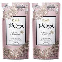 【数量限定】フレアフレグランス IROKA Bijou パウダリーピオニーの香り 詰め替え 480ml 1セット(2個入) 柔軟剤 花王