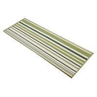 イケヒコ キッチンマット 『ネーブル』 グリーン 約67×240cm 2038839 1枚 (直送品)