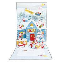 アートプリントジャパン クリスマスカード/ミニサンタポップアップ /94191 1000094191 1セット(10枚入) (直送品)