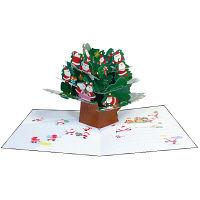 アートプリントジャパン クリスマスカード/ミニサンタポップアップ /94193 1000094193 1セット(10枚入) (直送品)