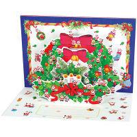 アートプリントジャパン クリスマスカード/ミニサンタポップアップ /94194 1000094194 1セット(10枚入) (直送品)