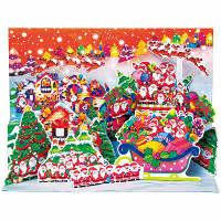 アートプリントジャパン クリスマスカード/ミニサンタポップアップ /94195 1000094195 1セット(10枚入) (直送品)