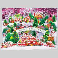 アートプリントジャパン クリスマスカード/ミニサンタポップアップ /94196 1000094196 1セット(10枚入) (直送品)