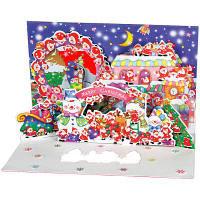 アートプリントジャパン クリスマスカード/ミニサンタポップアップ /94197 1000094197 1セット(10枚入) (直送品)