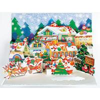 アートプリントジャパン クリスマスカード/ミニサンタポップアップ /94199 1000094199 1セット(10枚入) (直送品)