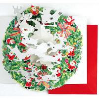 アートプリントジャパン クリスマスカード/ミニサンタポップアップ /94200 1000094200 1セット(10枚入) (直送品)