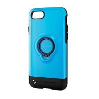 エレコム iPhone8/TOUGH SLIM/リング付/ブルー PM-A17MTSRBU 1個