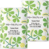 2倍巻 トイレットペーパー 6ロール入×2パック 再生紙配合 ダブル 60m フローラルの香り