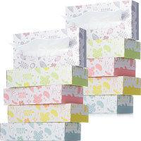 アスクル ティッシュペーパー 200組 (5箱) オリジナルティッシュ フラワーメドゥー 1セット(2パック) アスクル アスクル