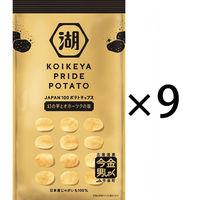 【数量限定】コイケヤ(湖池屋) KOIKEYA PRIDE POTATO(プライド ポテト) 幻の芋とオホーツクの塩 1セット(9袋入)