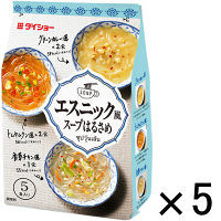 インスタント エスニック風スープはるさめ(香草チキン風・トムヤムクン風・グリーンカレー風)1セット(5袋) ダイショー