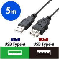 エコUSB2.0延長ケーブル/A-Aメスタイプ/エコ/5m/ブラック U2C-JE50BK 1個