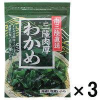 【アウトレット】カネタ 三陸肉厚わかめ<湯通し塩蔵わかめ> 1セット(100g×3個)