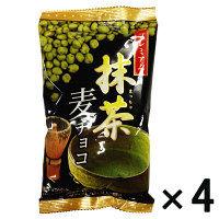 【アウトレット】プレミアム 抹茶麦チョコ 1セット(80g×4個) 寺沢製菓