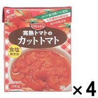 富士貿易 キアーラ ダイストマト無塩 テトラパック 390g 1セット(4個)