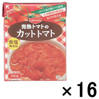 富士貿易 キアーラ ダイストマト無塩 テトラパック 390g 1セット(16個)