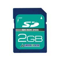グリーンハウス SDメモリーカード 2GB 3年保証 GH-SDC2GG 1枚  (直送品)