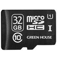 グリーンハウス microSDHCカード(アダプタ付属) 32GB UHSーI Class10 GH-SDMRHC32GU 1枚  (直送品)