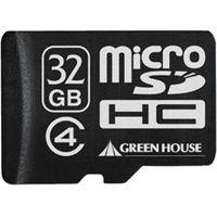 グリーンハウス microSDHCカード(アダプタ付属) 32GB Class4 GH-SDMRHC32G4 1枚  (直送品)