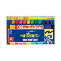シヤチハタ 乾きまペン 油性マーカー 太字・角芯 12色セット 紙ケース 199NK-12S 1セット(12色) (取寄品)