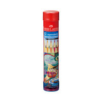 シヤチハタ ファーバーカステル 水彩色鉛筆 丸缶 12色セット TFC-115912 1セット(12色) (取寄品)