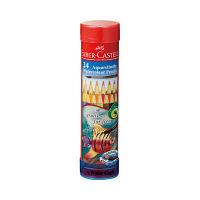 シヤチハタ ファーバーカステル 水彩色鉛筆 丸缶 24色セット TFC-115924 1セット(24色) (取寄品)