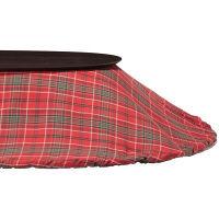 無印良品 こたつふとん・フランネル・楕円形・180×237cm/赤チェック 38750093 良品計画 (取寄品)