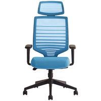 Sidiz T30チェア オフィスチェア 可動肘・ヘッドレスト付 ブルー FHTN302RF011 1脚(2梱包) (直送品)
