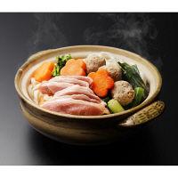 京料理美濃吉 壬生菜(ミブナ)と九条ねぎの合鴨つくね鍋 (直送品)
