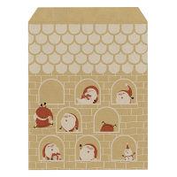 ササガワ ギフトバッグ 平袋豆サンタ 小 50-1113 1包(100枚入) (取寄品)