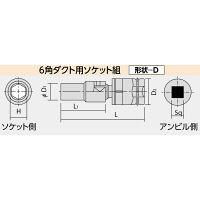 日立工機 ダクト用ソケット組 14mm 95L (四角寸法12.7mm) 00992615 (直送品)