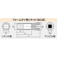 日立工機 フォームタイ用ロングソケット組 21mm 125L 四角寸法9.5 00996159 (直送品)