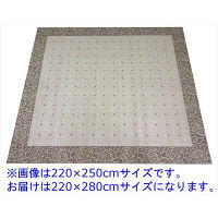 大一商事 Gre-One(グレワン) ラグ ビックローズ 2200×2800mm ベージュ 1枚 (直送品)