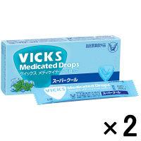 ヴイックス メディケイテッドドロップ スーパークール 1箱(20個入)×2箱 大正製薬 のど飴