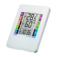 サンワサプライ 熱中症&インフルエンザ表示付きデジタル温湿度計(警告ブザー設定機能付き) CHE-TPHU2WN 1個 (直送品)