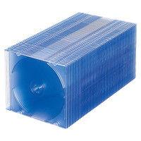 サンワサプライ DVD・CDケース(クリアブルー) FCD-PU50BL 1セット(50枚り)