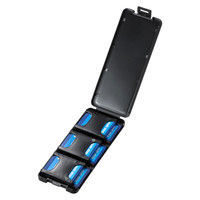 サンワサプライ SDカードケース(6枚収納・ブラック) FC-MMC23SDBK 1個