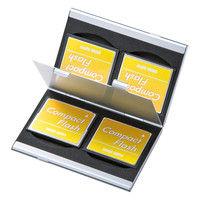 サンワサプライ アルミメモリーカードケース(CFカード用・両面収納タイプ) FC-MMC5CFN 1個 (直送品)